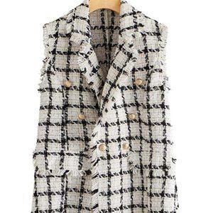 Women's double breasted pattern vest